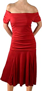 product image for Funfash Plus Size Women Red Short Sleeves Flare Cocktail Party Dress Made in USA