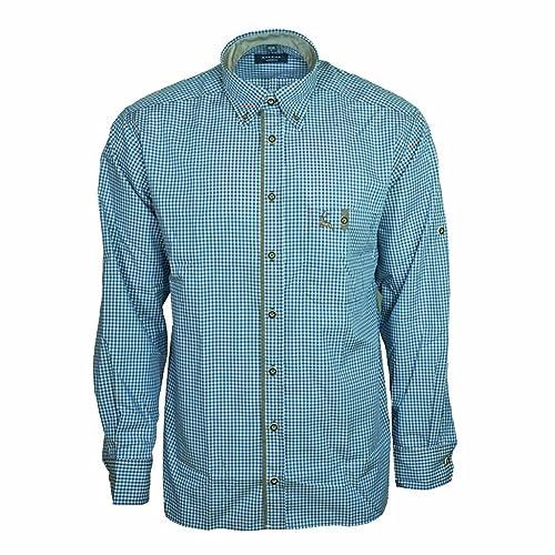 Eterna Herrenhemd Herren Hemd Trachtenhemd Freizeithemd Langarm Comfort Fit Blau Weiß kariert