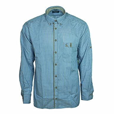 eterna Herrenhemd Herren Hemd Trachtenhemd Freizeithemd Langarm Comfort Fit  Blau Weiß kariert  Amazon.de  Bekleidung 69ed254261
