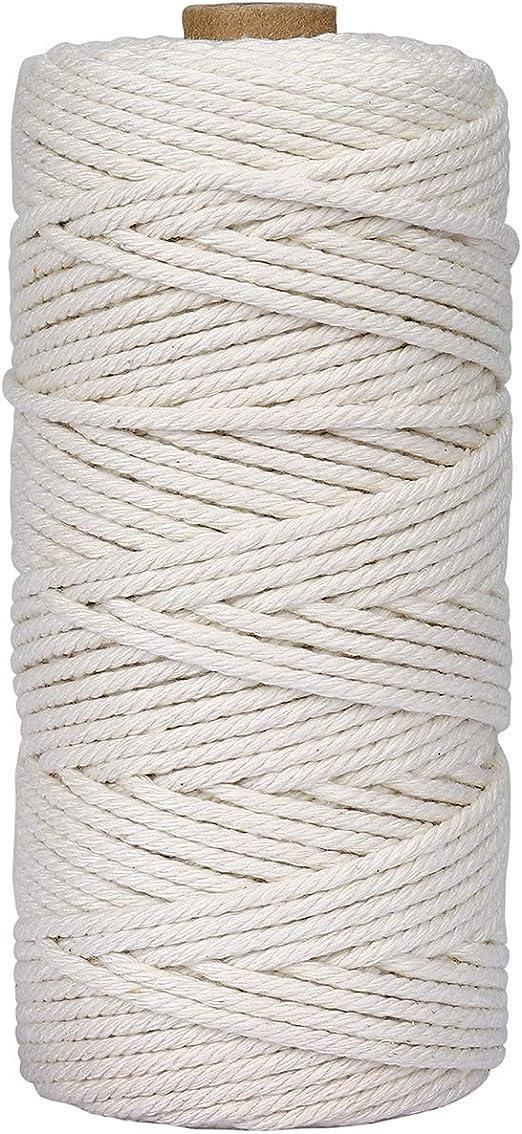 Cuerda de Macramé 3 mm x 100 m Cuerda Cordel de Algodón para ...