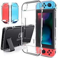 findway Switch Case, Crystal Cover Case Compatible with Nintendo Switch and Joy-Con Controller, TPU Clear Transparent Shock Absorption Technology Bumper Protective Accessories