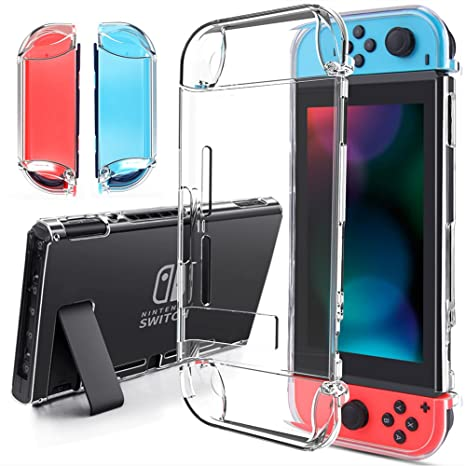 findway Switch Case, Crystal Cover Case Compatible with Nintendo Switch and  Joy-Con Controller, TPU Clear Transparent Shock Absorption Technology