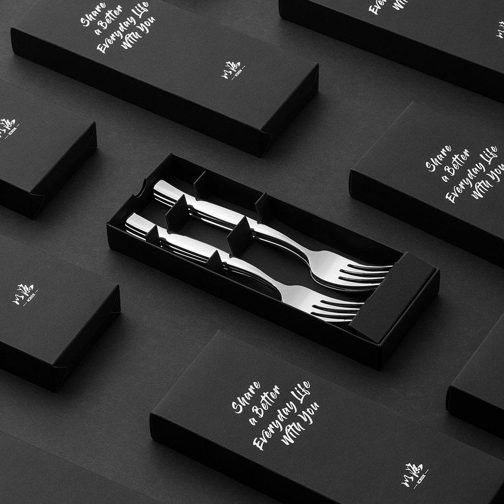 icxox Fourchette de Table, Lot de 6 Pièces, 20,7cm, Acier INOX 18/10 (Argent)