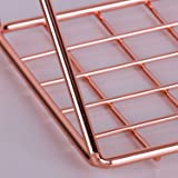 Simmer Stone Wall Grid Shelf, Wire Metal Hanging