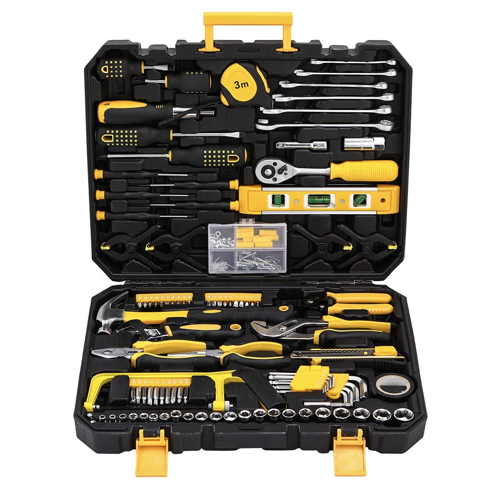 Mechanics Tool Set 198-Piece, Household Tool Kit Set with Tools Box Case for Men and Women by Wilnerkot