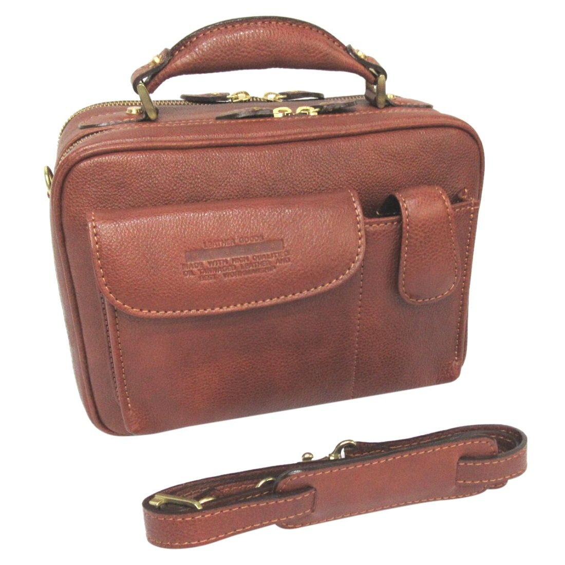 LuggageAOKI(青木鞄) [Lugard NEVADA]フロントポケット2WAYショルダーバッグ ブラウン(5076-50) B002D53RLO