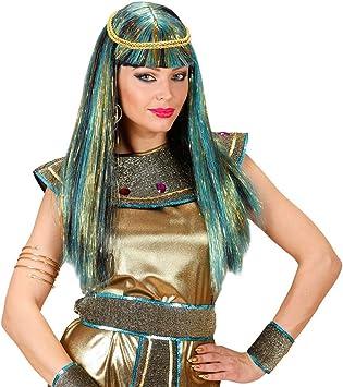 NET TOYS Peluca de Carnaval de Cleopatra futurista con Destellos ...
