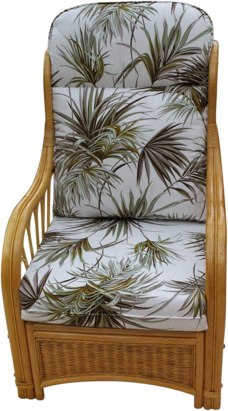 Garden Market Place Sorrento-Mueble de jardín para conservación-Silla Individual, diseño de Palma, Color Natural, Multicolor, 119 X 80 X99