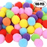 Outgeek Craft Pom Poms Creative Colorful Pom Pom Ball Craft Decoration For Diy Craft Making 6 sizes 2xl 100pcs