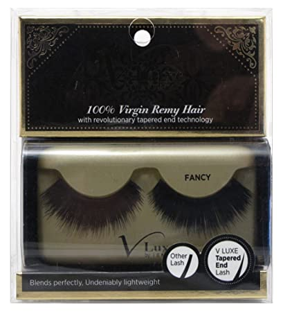 3b6fb43b96a Amazon.com : V-LUXE by Kiss I Envy 100% Virgin Remy Strip Eyelashes - VLE06  FANCY (2 Pack) : Beauty
