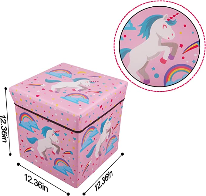 AURIKA HOME KIDS Storage TOY BOX MULTI PURPOSE Fordable Stool Chest Seat