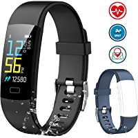 Fitness Tracker AIMIUVEI Activity Tracker Color Screen, Heart Rate Monitor Sleep Monitor IP 67 Waterproof Smart Fitness Watch with Step Calorie Counter Pedometer Smart Watch Bracelet for Women Men Kid