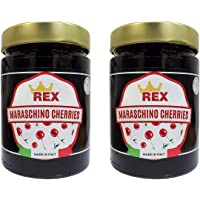 REX Gourmet Cocktail Maraschino Cherries, 14.1 Ounce (Pack of 2)