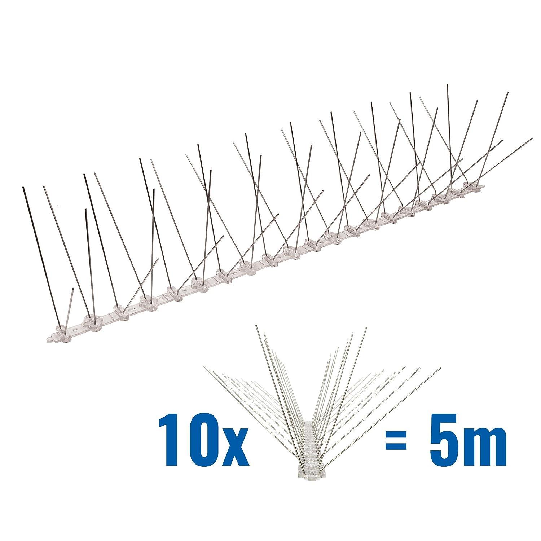 5 Meter Taubenspikes 4-reihig auf Polycarbonat - hochwertige Lö sung fü r Vogelabwehr Taubenabwehr Spikes Pestsystems
