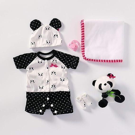 Image of TERABITHIA 4 Estilos Diferentes Se Ajusta a 50-55 CM Muñecas recién Nacidas Vestido Reborn Baby Doll Toda la Ropa de algodón