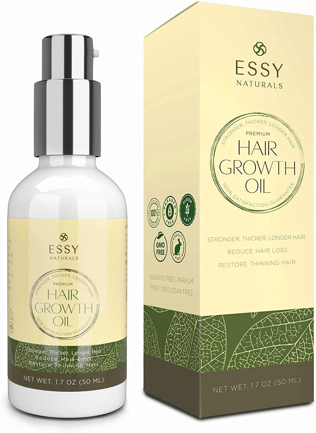 Natural Growth Hair Oil with Caffeine - Hair Growth Oil for Stronger,  Thicker, Longer Hair 35.35 oz