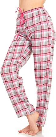 Amazon Com Pantalones De Franela Para Mujer Pantalones Largos De Algodon Xxl Clothing