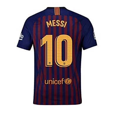 74e6aeeb5 Fiueker Men s Messi Jerseys Barcelona  10 Soccer Jersey 2018 2019 Home Shirt  (S