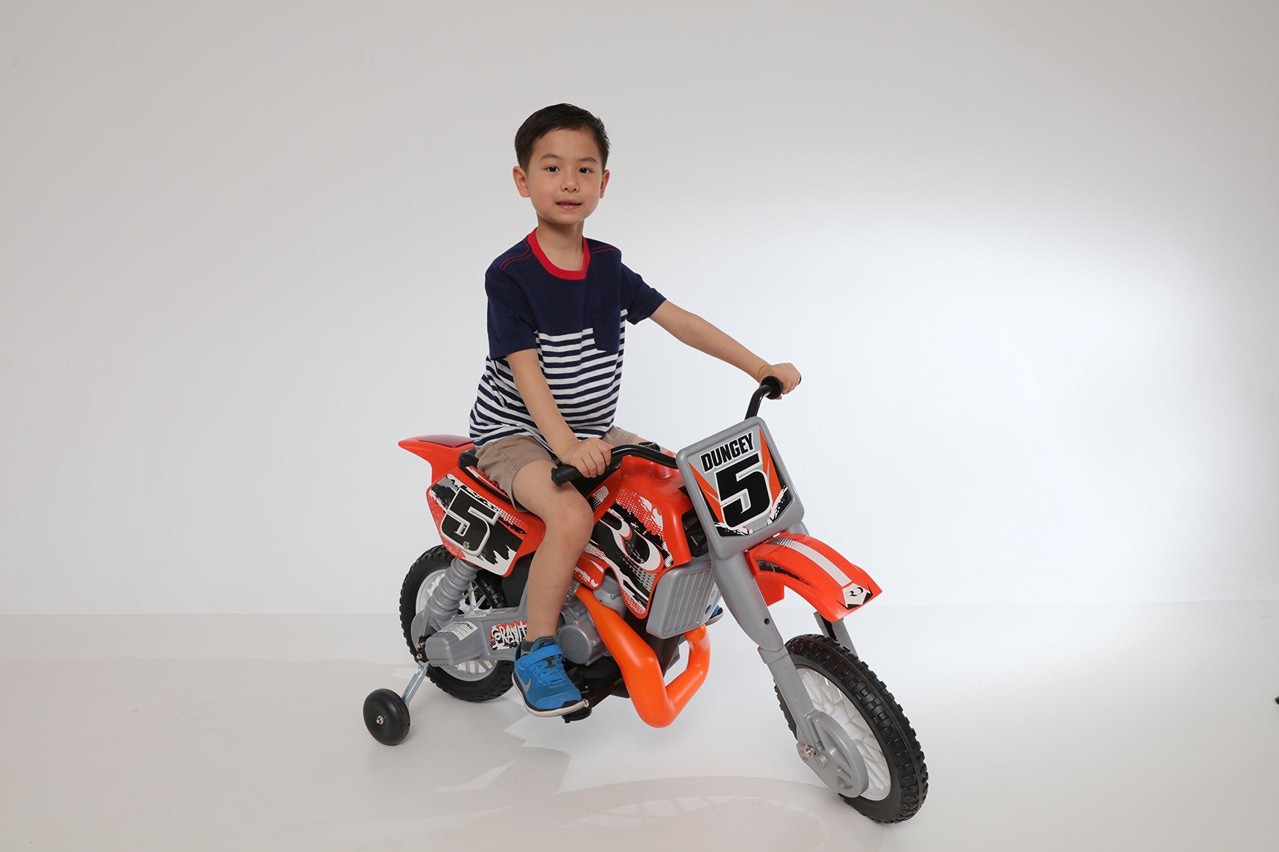 Beyond Infinity Ryan Dungey Battery Powered 12V Motocross Dirt Bike, Orange/Black/White, 47.2'' x 22.1'' x 28.38''