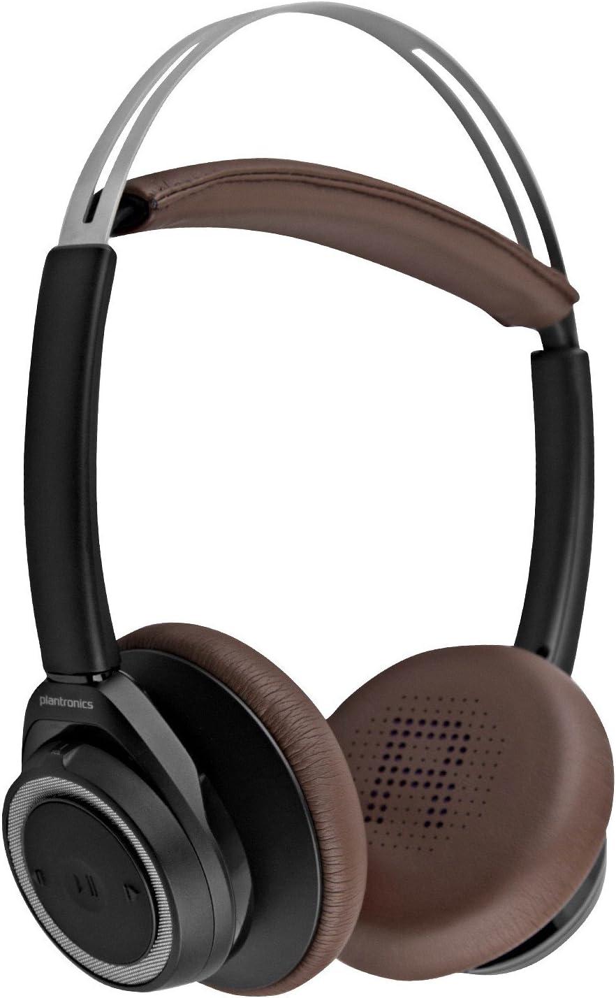 Amazon Com Plantronics 202649 01 Backbeat Sense Stereo Bluetooth Wireless Headphones Black Espresso