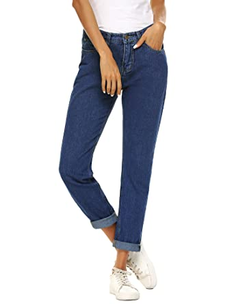 790c288dc1ffa Romanstii Mujer Vaqueros Jeans Cintura Alta Pantalones para señora Vaqueros  Ajustados para Mujeres Pantalones Sueltos Vaqueros