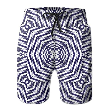 8c2729c7813dc MSACRH Abstract Geometric Pattern Men's Summer Fast Dry Beach Shorts Swim  Trunks Surfing Running Shorts