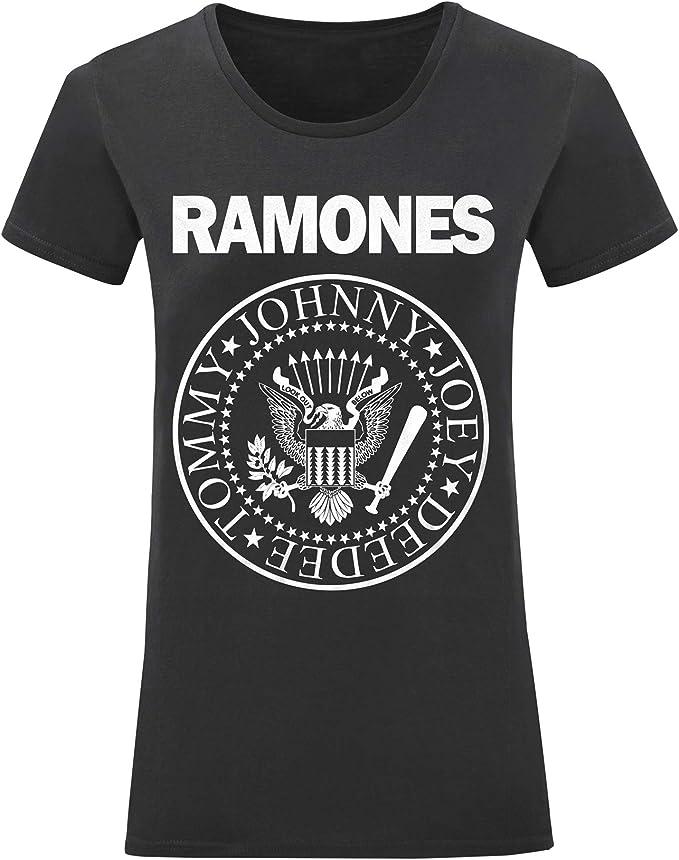 Camiseta Rockera Motera Mujer Ramones Rock