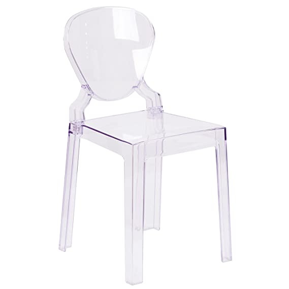 Flash Furniture Ghost Chair With Tear Back In Transparent Crystal by Flash Furniture