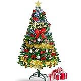 クリスマスツリー セット150㎝ オーナメント 12種類 組立簡単 クリスマスプレゼントに最適 おしゃれ 飾り 大型 高級 (ライトなし)
