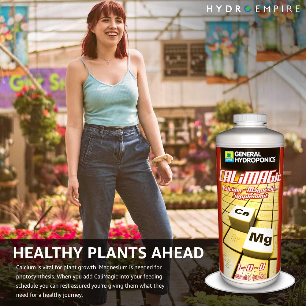 General Hydroponics CALiMAGic Quart - Cal Mag Organic Plant Supplement - Calcium Magnesium Nutrient for Hydroponic, Helps Blossom End Rot with Bonus 5 Pipettes and Hydro Empire 4oz Measuring Cup Kit by Hydro Empire (Image #3)