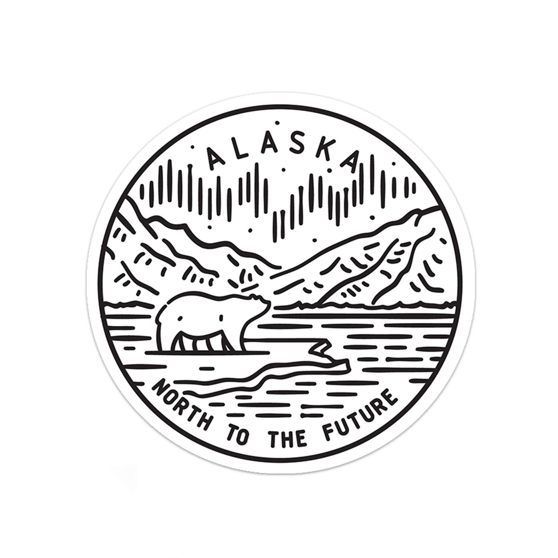 3 Alaska Sticker
