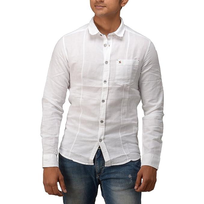 0a8b37478e15 Eric German Men S Slim Fit Linen Shirt-1114.1025-Xx-Large  Amazon.in ...