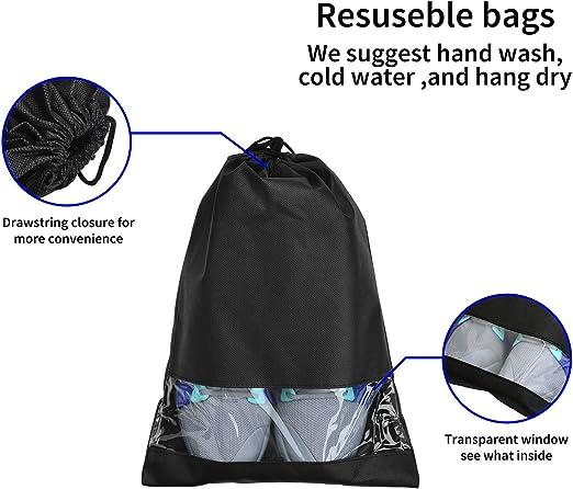 CoolStuff Travel Shoe Bags,Sakamoto Cat Drawstring Backpack Hiking Climbing Gym Bag,Large Big Durable Reusable Polyester Footwear Protection