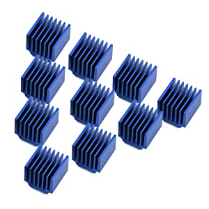 Wendry Stepper Driver Heatsink with Back Glue 10pcs Aluminum Stepper Motor Driver Heatsink Cooling Fin Suitable for 3D Printer Stepper Motor Driver