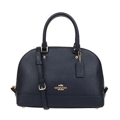 bbbf1f398a71 COACH Womens leather Hand shoulder bag F57555 (Dark blue)  Handbags ...