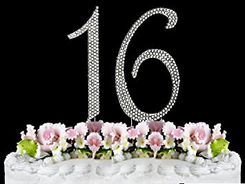 Amazoncom Rhinestone Cake Topper Number 16 by other Kitchen Dining