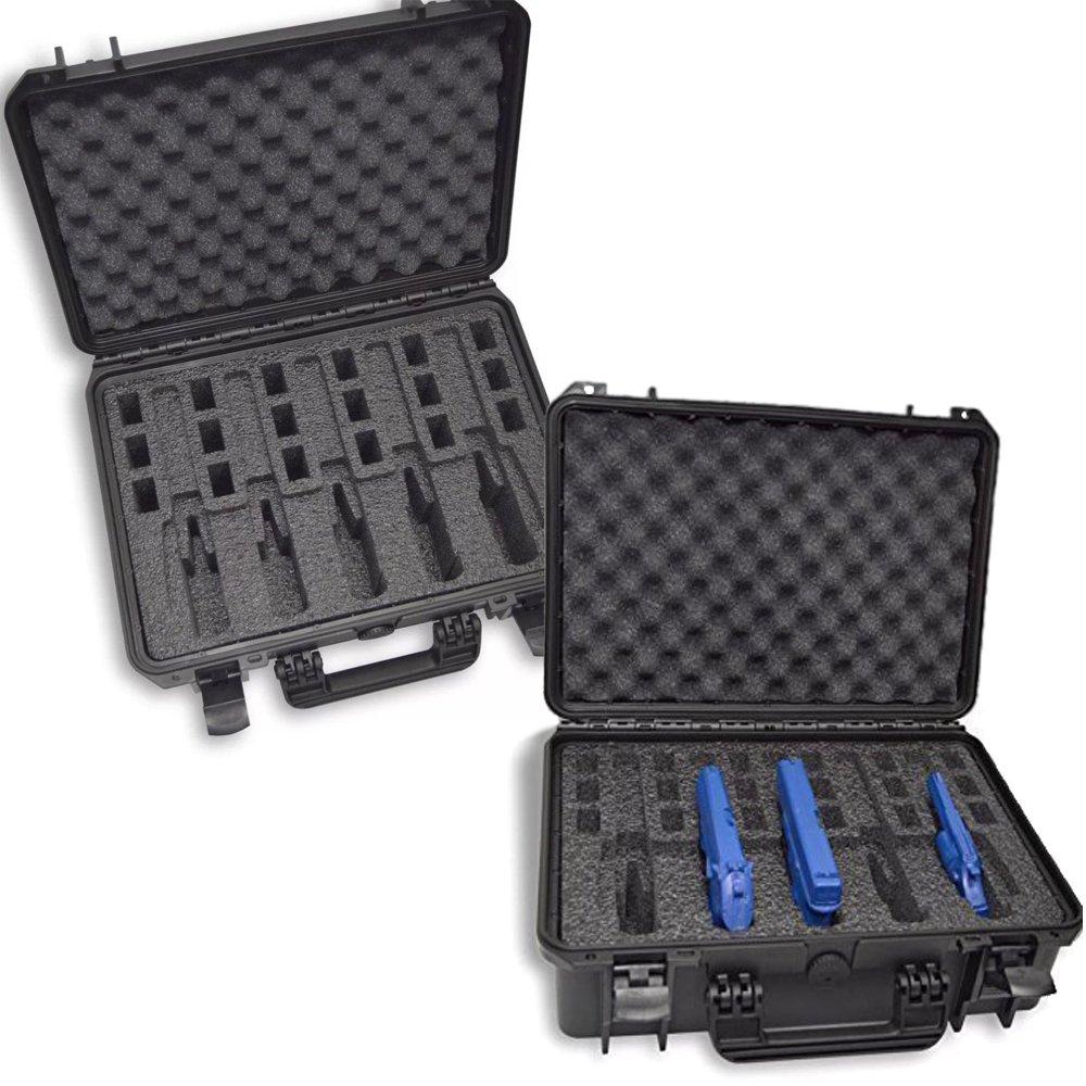 DORO Cases Waterproof Heavy Duty Gun Case, 5 Pistol custom foam insert by MyCaseBuilder