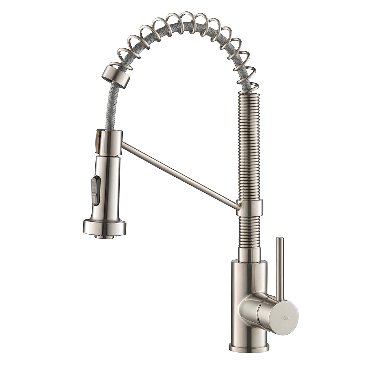 Attirant Kraus KPF 1610SS Bolden Single Handle 18 Inch Commercial Kitchen Faucet  With Dual Function