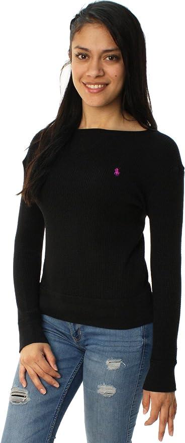 Ralph Lauren - Camiseta - camisa - para mujer Polo Black S: Amazon.es: Ropa y accesorios