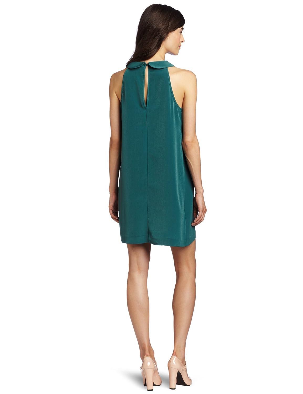 BCBGeneration Womens Green Shift Dress