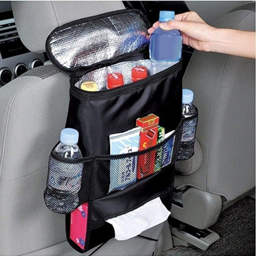 Jinguio Car Seat Back Organizer and Cooler Set,Multi-Pocket Travel Storage Bag(Heat-Preservation and Waterproof),Non-Toxic and BPA-Free,Bigger-Capacity