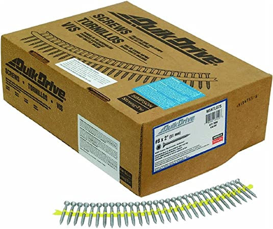 1,000 Quick Drive 3″ Inch Sub Floor//Deck  Screw Simpson Strong Tie Collated
