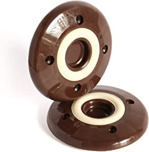 Slipstick CB827 Non Slip Grip Furniture Feet Floor Protectors for Furniture Legs (Set of 4 Grippers) 3-1/4 Inch Round - Chocolate Brown