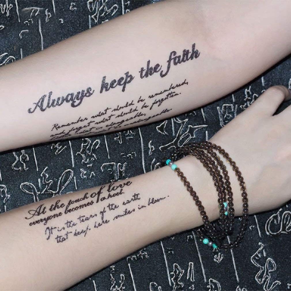 Etiqueta engomada impermeable del tatuaje de la letra inglesa ...