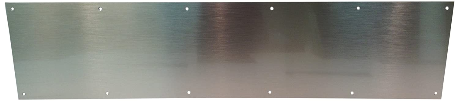 Don-Jo 90 Metal Kick Plate, Satin Stainless Steel Finish, 30' Width x 12' Height, 3/64' Thick 30 Width x 12 Height 3/64 Thick 90-12 X 30-630
