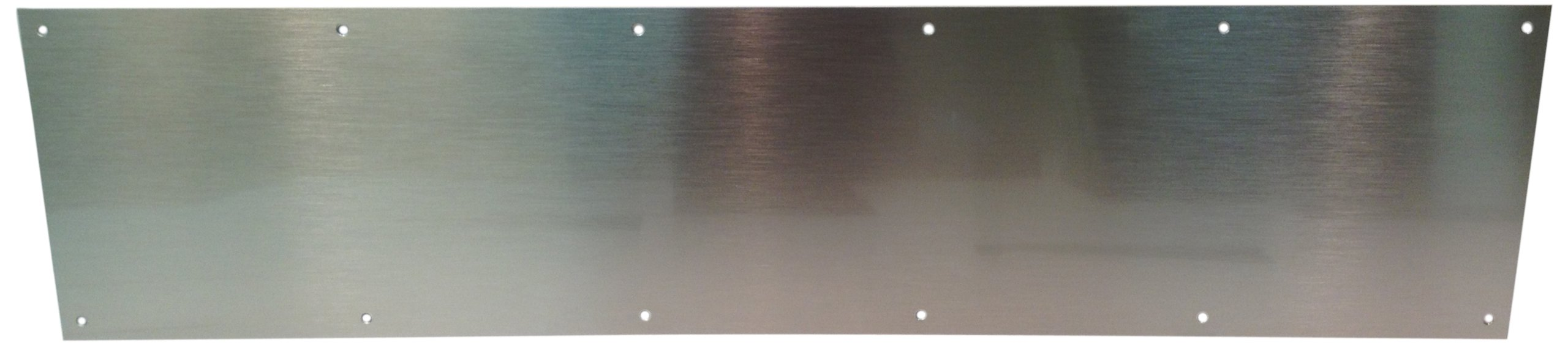 Don-Jo 90 Metal Kick Plate, Satin Stainless Steel Finish, 28'' Width x 8'' Height, 3/64'' Thick