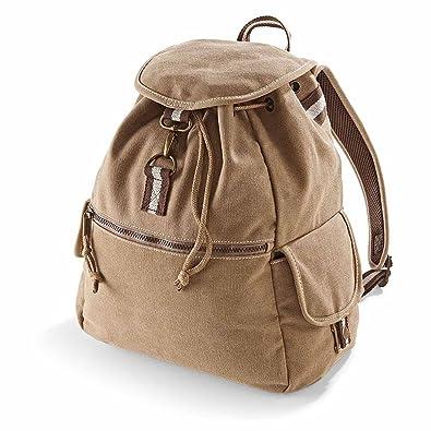 e265bb6a22 Quadra - sac à dos toile look usé vintage DESERT CANVAS BACKPACK QD612 -  adulte mixte