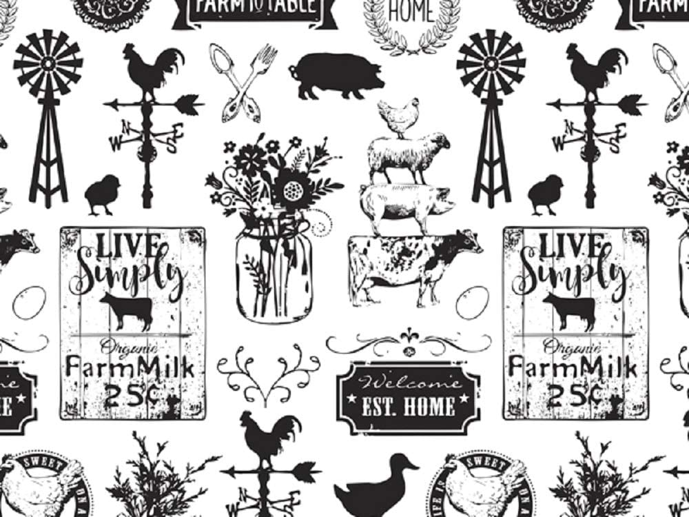 """Farmhouse Rustic Gift Wrap Paper Roll - 24"""" x 15'"""