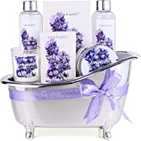 Spa Gifts for Women,Body & Earth Lavender Scented , Gifts Set for Women ,7 Pcs Spa Gift with Shower Gel, Bubble Bath…