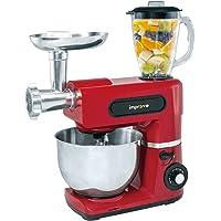 Improve IMPSM0403KT - Robot de cocina 3 en 1 de 1.500 W, cuenco de 6 litros, 6 velocidades, picadora y batidora - Rojo